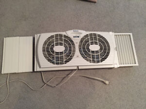 2 Speed Window Fan with Extensions