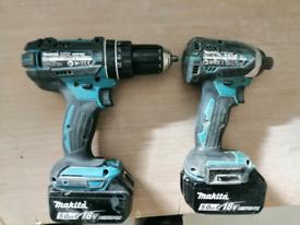 Makita 18v drill and brush less impact driver