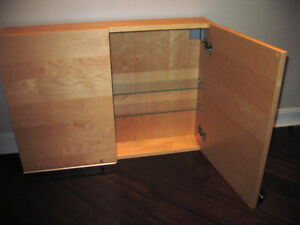 Spacious Medicine Cabinet with Brushed Nickel Handles