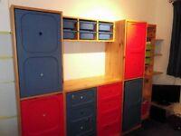IKEA Children's wardrobe, chest of drawers, shelves