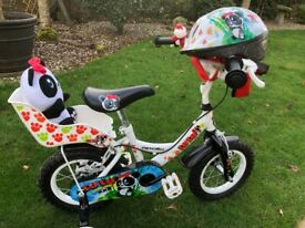 "Gorgeous 12"" Apollo lulu panda bike from Halfords, immaculate. Helmet inc."