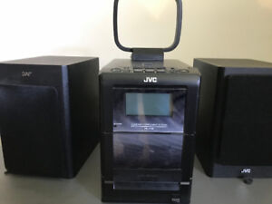 JVC Speakers with Radio, Tape, and CD Player