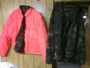 Men's Insulated 3 way camo / orange hunting jacket
