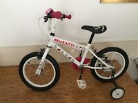 """Hello Kitty 16"""" childs bike with stabilisers (removable) Buyer Collects"""