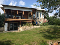GARNER LAKE, AB – Lakeview Cabin w/tons of Amenities + 30 Acres