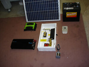 Off-Grid Solar kit for 2 days/week for RV, or small Trailer