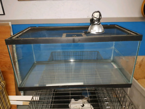 Terrarium with light and lid $130 obo