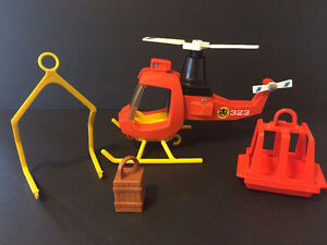 Vintage, Fisher Price, Adventure People, Rescue Helicopter