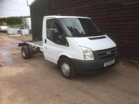 2009 FORD TRANSIT 100T350 CHASSIS CAB 3500 KG GVW 1 OWNER BT F/S/H NO VAT