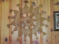"Vintage MACRAME & Bead WHEEL Wall Hanging - 37"" x 37"" City of Montréal Greater Montréal Preview"