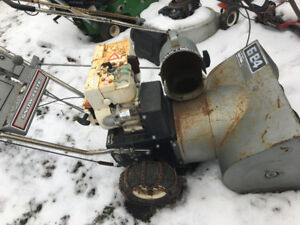 Parting out snowblower s