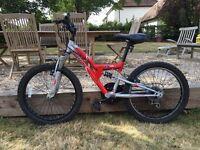 """Apollo Awesome 20"""" boys dual suspension mountain bike"""