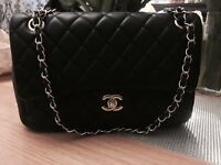 Chanel 2.55 genuine leather lambskin double classic flap bag