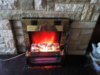 BURLEY ELECTRIC FIRE COAL EFFECT VGC *NO TEXTS PLEASE*