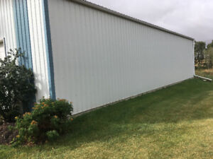 HUGE SHOP FOR RENT 60'x40' & OUTDOOR STORAGE 1 MIN FROM BOWDEN