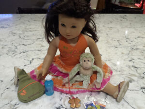 American Girl Jess McConnell with Original Outfit and Accessorie