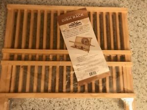 NEW Large Solid Wood kitchen Dish Rack