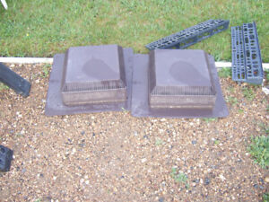 2 brown plastic roof vents both for $10