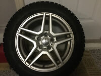 4 Tires with mags Toyo observ garit 205 55 R16