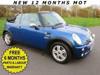 MINI 1.6 COOPER *** SPECIAL ORDER CONVERTIBLE ***LOW MILES / F.S.H / NEW MOT