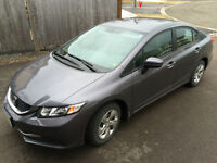 2014 Honda Civic LX Sedan lease take over (no fees) $136 biwkly