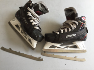 Patins de gardien de but Bauer x700 avec lames additionnelles