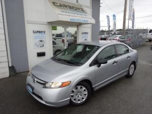 2007 Honda Civic DX-G Sedan, 5 Speed Manual, A/C, Power Group