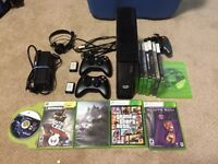 Xbox 360 250gb, controllers and games in Kelowna