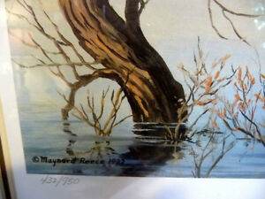 "Hand Signed and Numbered, Maynard Reece ""Wood Ducks"" Lithograph Stratford Kitchener Area image 6"