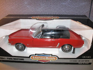 American Muscle ERTL 1/12 Scale 1964 1/2 Ford Mustang  RED