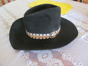 BLACK CANADIAN DYNAFELT COWBOY HAT EXCELLENT SHAPE