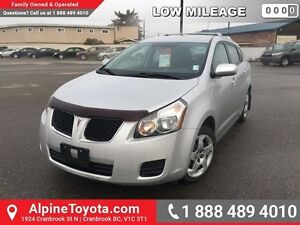 2009 Pontiac Vibe 4DR WGN FWD   Air conditioning, hood deflector