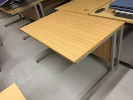 Used rectangle office desk in oak