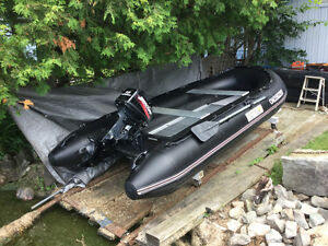Inflatible dinghy with 15hp 2-stroke Mercury Outboard
