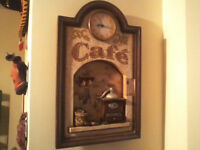 Decorative Wall hanging Clock 64 cm x 40cm,1.5v battery operated