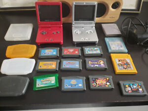 2 Gameboy SPs + Games and Accessories