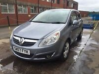 Bargain Vauxhall corsa design 1.4 full years MOT low miles ready to go