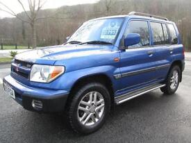 03/53 MITSUBISHI SHOGUN PININ 2.0 GDI EQUIPPE 4X4 IN BLUE WITH ONLY 88,000 MILES