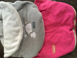 Like new baby bundle blankets for car seats