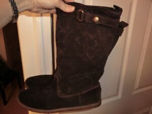 Coach Leather Boots Size 8