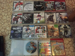 PS3 with lots of games and controller