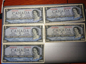 Lot of 1954 Banknotes West Island Greater Montréal image 5