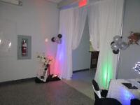 service mariage en décoration de salle