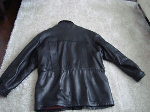 Manteau de cuir/ Black leather jacket West Island Greater Montréal image 4