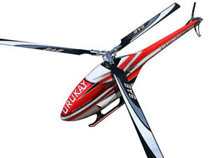 RC HELI URUKAY 3 BLADES RED/WHITE (WITH BLACK LINE