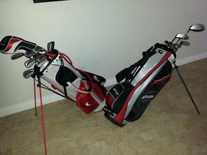 2 Set of Right Hand Golf Clubs + Bag