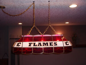 Calgary Flames Pool Table light - PRICE REDUCED