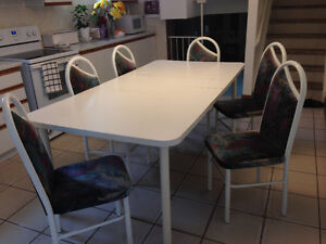 Table amd chairs