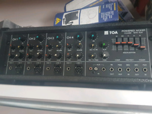 Toa mx-104 4 channel powered mixer