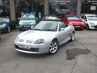 53 MGTF 1.8 CONVERTIBLE COOL BLUE 63,200 MILES MOT MAY 17 GLASS REAR WINDOW